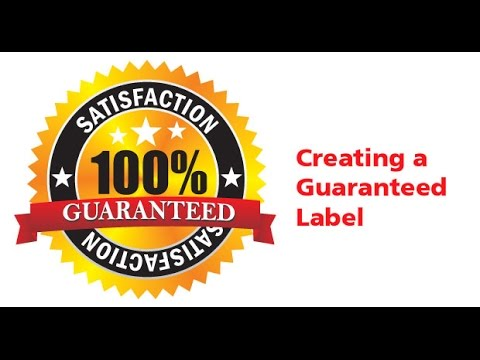 CorelDraw Tutorial - Creating a Guarantee Label - BasicTutors